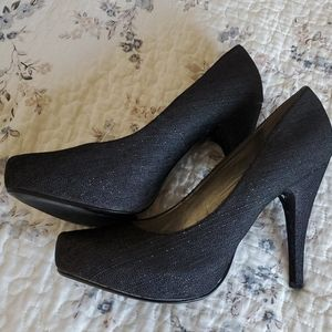 Guess denim 4 inch high heels